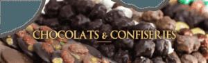 Les chocolats et confiserie de la boutique le Pralin à Antibes.