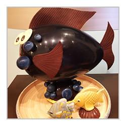 Poisson en chocolat de Pâques.