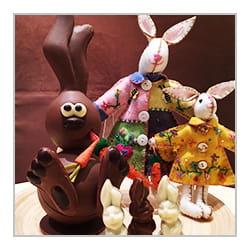 Lapin en chocolat de Pâques.