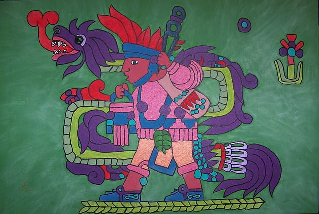 Le dieu Quetzalcóatl.