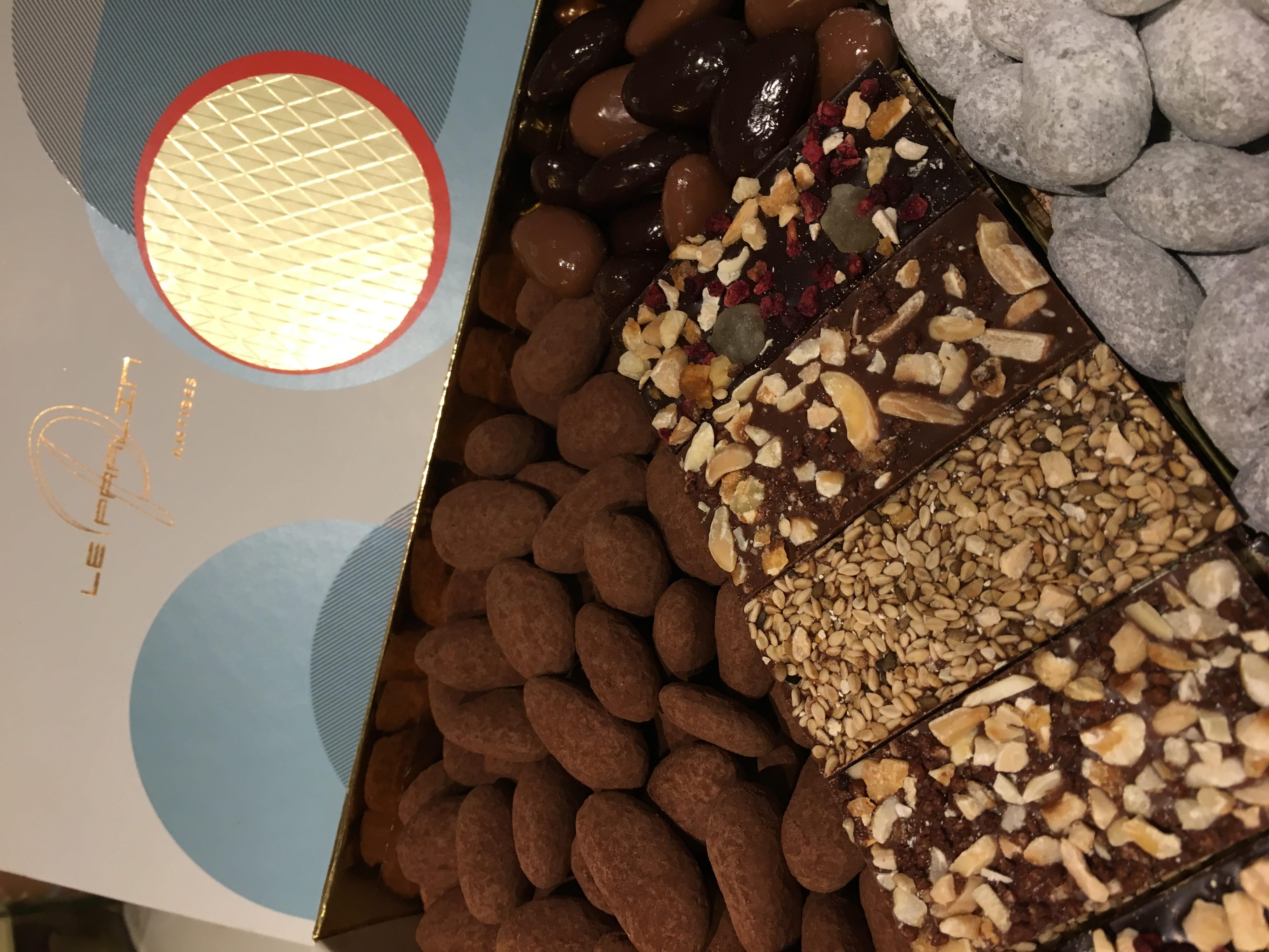 Des chocolats de la boutique Le Pralin à Antibes.