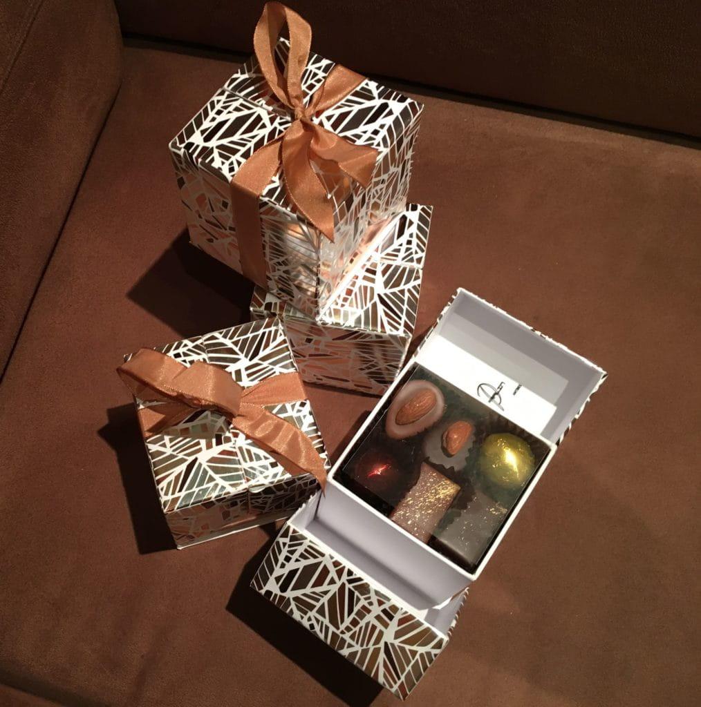 Boites de chocolats à offrir chez Le Pralin.