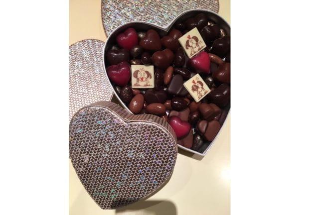 Les chocolats de la Saint-Valentin chez Le Pralin.