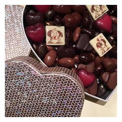 Boite de chocolat de la Saint-Valentin.