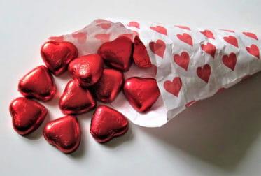Bouquet de chocolats spécial Saint-Valentin.