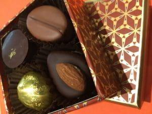 Boite Le Pralin de chocolats.