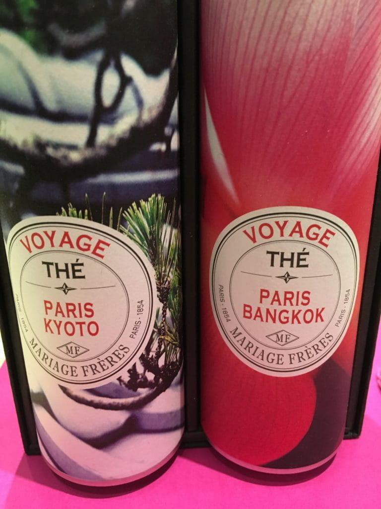 Gamme de thés Voyage par Mariage Frères.