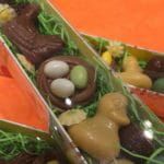 Coffret de Pâques avec des chocolats vendus au Pralin à Antibes.