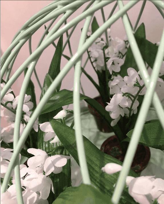 Les pots de praliné avec muguet de la boutique de chocolat Le Pralin.