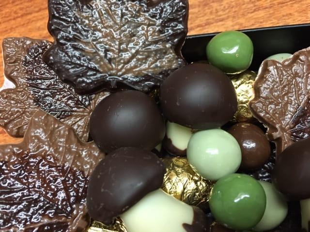 Nouveautés de la boutique Le Pralin avec les chocolats d'automne.