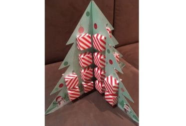 Calendrier de l'Avent Le Pralin en forme de sapin de Noël.
