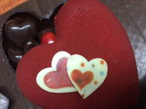 Chocolats saint Valentin.