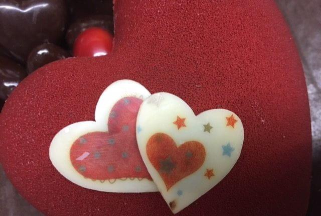 Décoration de chocolats de saint-Valentin.
