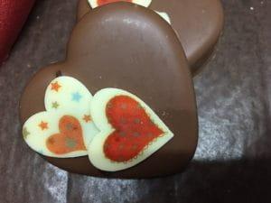 Cœur de chocolat pour la saint-Valentin.