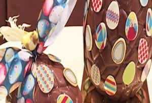 Oeuf de Pâques en chocolat.