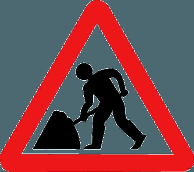 Panneau de signalisation de travaux.